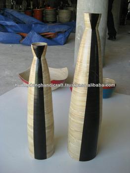 Hohe Coiled Bambus Vase Nur Dekoration Vase Schwarz Und Weiss Vase