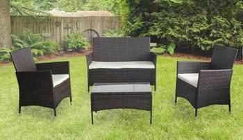 4pc Rattan Garden Furniture Set Outdoor Wicker Set Buy Outdoor