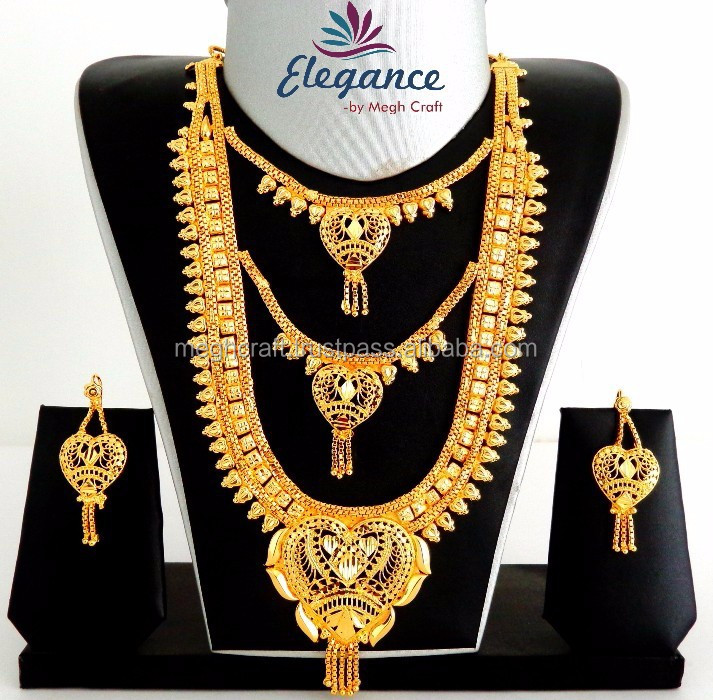 Gold Plated Long Rani Haar Set Wholesale Gold Plated Bridal