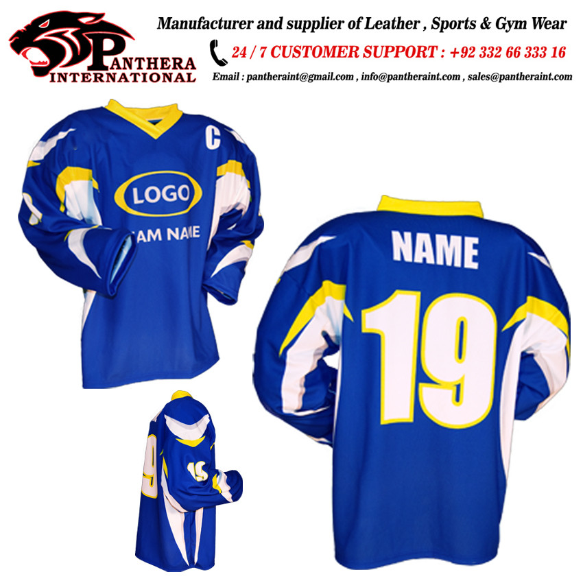 2018 neueste nationale Design-Sublimation Eishockey Trikot