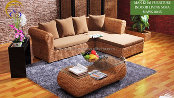 Phenomenal Water Hyacinth Rattan Indoor Living Room Wooden Sofa Set Furniture Acacia Wood Frame Hand Woven By Wicker Hyacinth Buy Wooden Sofa Set Ncnpc Chair Design For Home Ncnpcorg