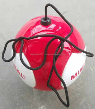 Soccer Ball With String And Handle Mini 6 Panel Hand Sched