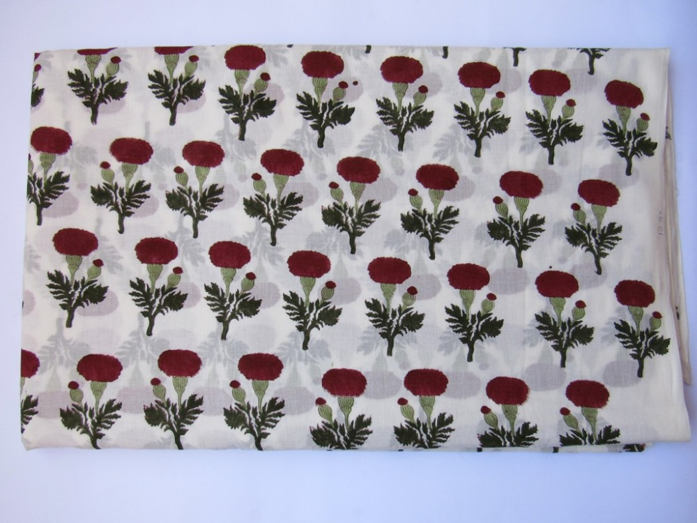 Handmade Cotton Block print natural dyed fabric manufacturer Indian textile cotton fabric Wholesale
