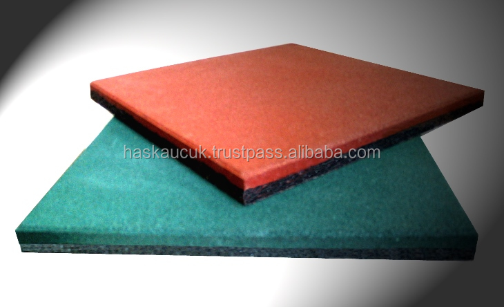 rubber tiles for play grounds 40*40 2,5 CM