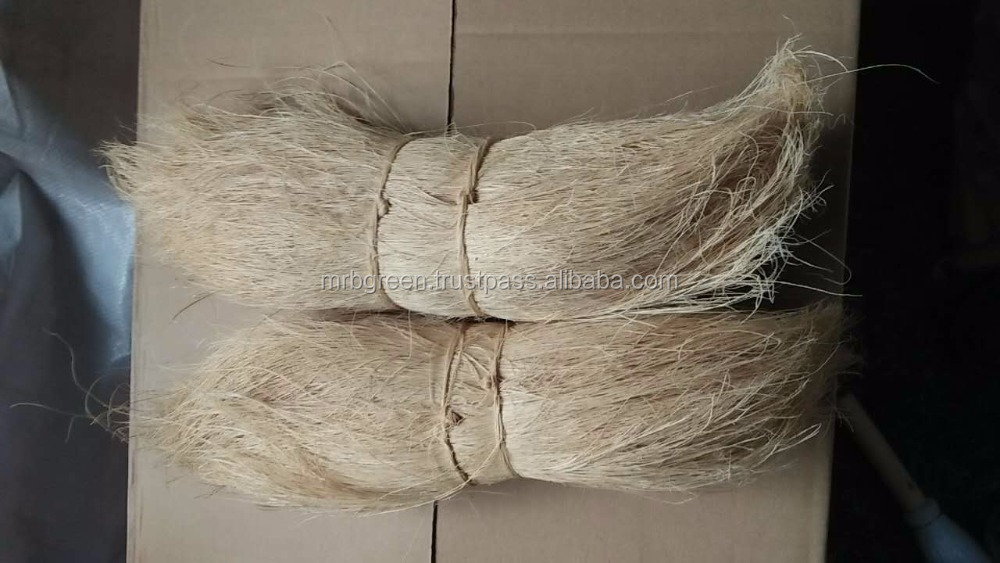 Natural/dyed/bleached Coir Bristle fiber using for Brush