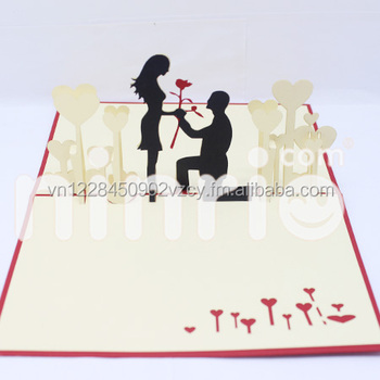 couple love 3d card popup card buy love card pop up card greeting