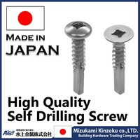 Self drilling screw with square recessed and pan head