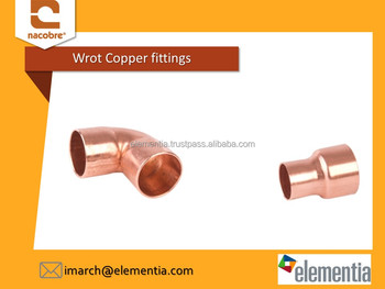 Wrot Copper fittings for water and gas