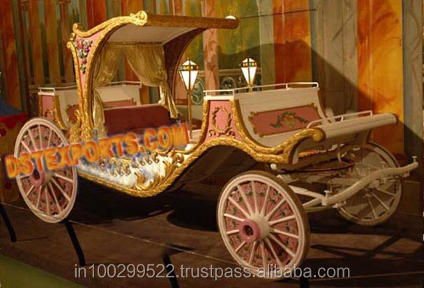 Royal Wedding Horse Carriage/golden Horse Buggy