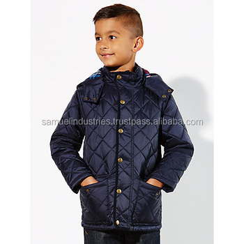 307acee3b7c0 Boy s Diamond Quilted Jacket children Clothing Garment Full And Half ...