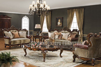 Vintage wooden sofa set furniture Living Room