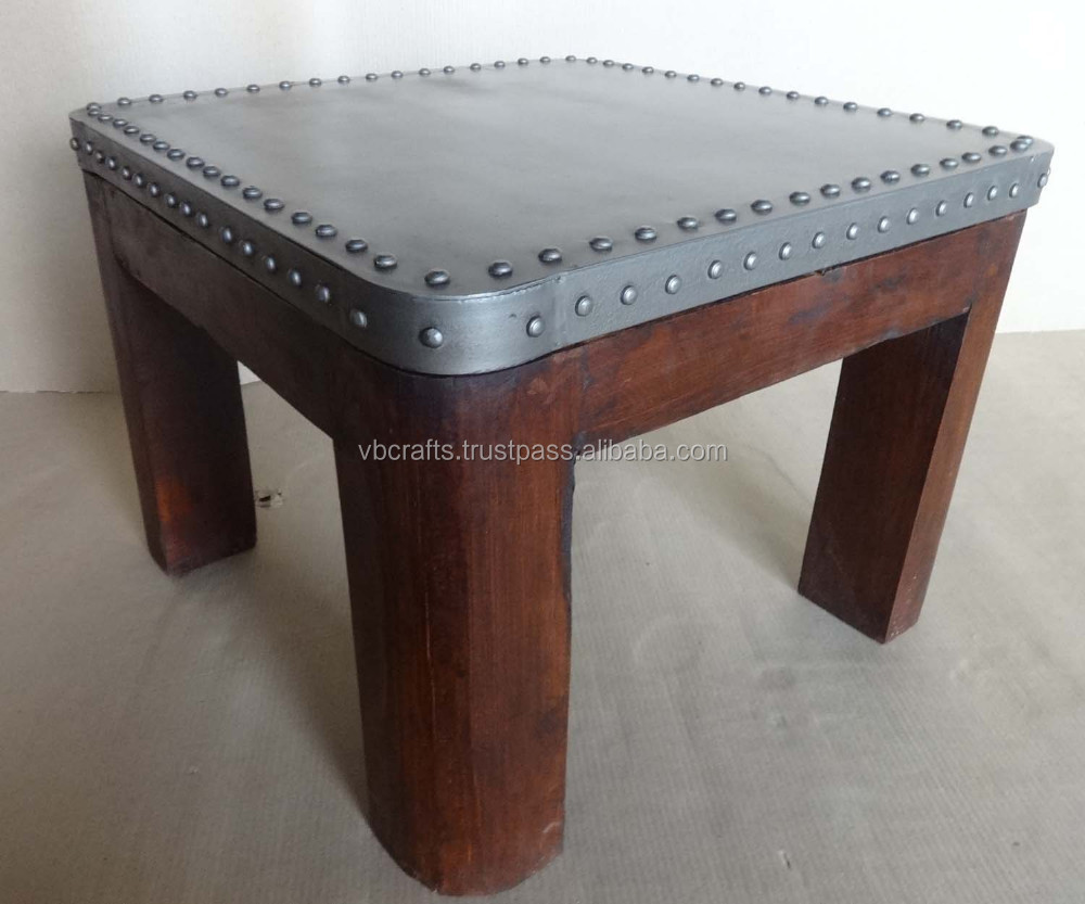 Industrial Style Coffee Table Metal Top And Wood Base   Buy Industrial  Coffee Table,Vintage Industrial Table,Metal Top Wooden Base Table Product  On Alibaba. ...