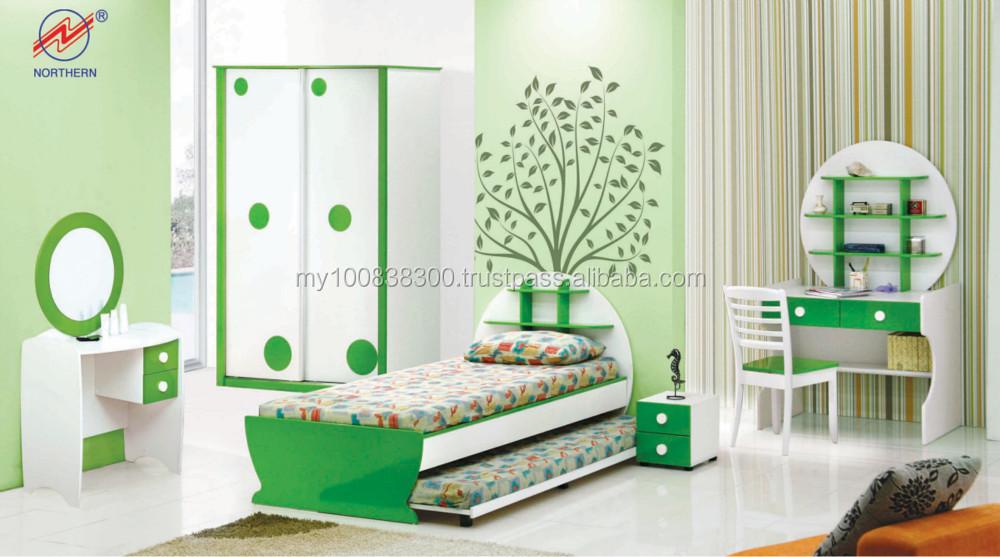 moslim tieners enkele slaapkamer meubels set houten meubels