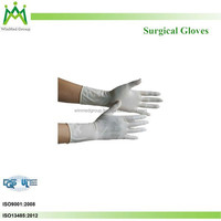 Hospital equipment medical consumable dental supply latex surgical gloves malaysia factory sterile powderlatex surgeon's gloves