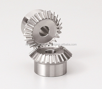 Straight miter gear Module 1.5 Ratio 1 Carbon steel Made in Japan KG STOCK GEARS