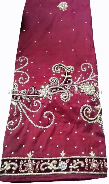 1fbb9ecd48e6ec Nigeria TogoDubai Africa style Indian Raw Silk George wrapper with stone  work
