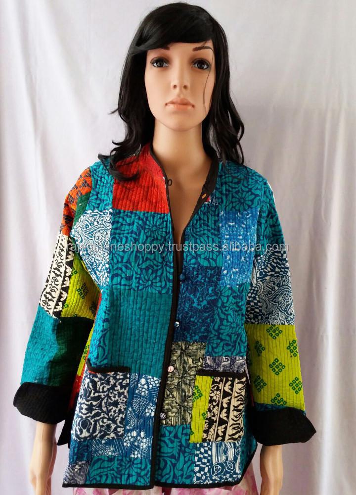 Buy Patola Kantha Coat / Patola Jacket / Patchwork Indian Kantha ...