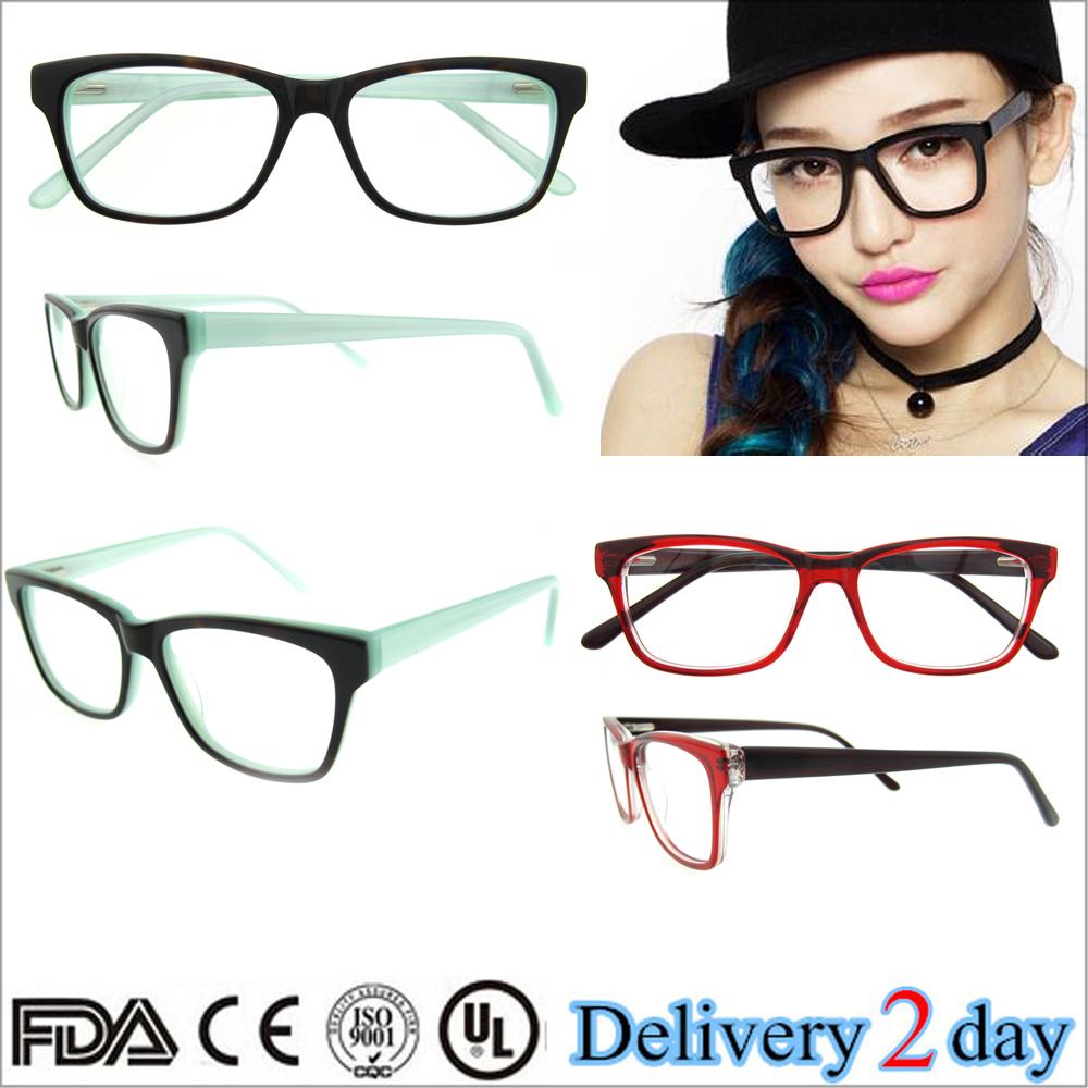 designer optical frames ewq2  2015 new arrival women designer optical frames stock acetate eyewear with  CE three colors glasses frame