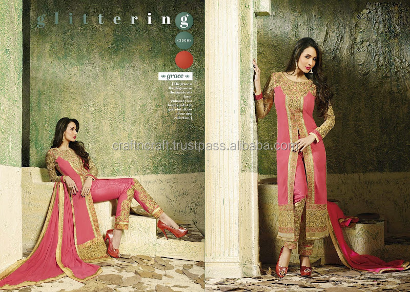 8 PCS CATALOG BOLLYWOOD ACTRESS MALIKA ARORA SALWAR KAMEEZ NEW