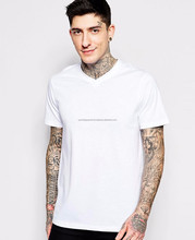 Latest Fashion 100% cotton white black cheap plain blank custom men short sleeve long sleeve t shirt