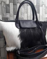 Hottest Popular Fur Leather Bag Ladies Handbag 2017 Hobo Bag