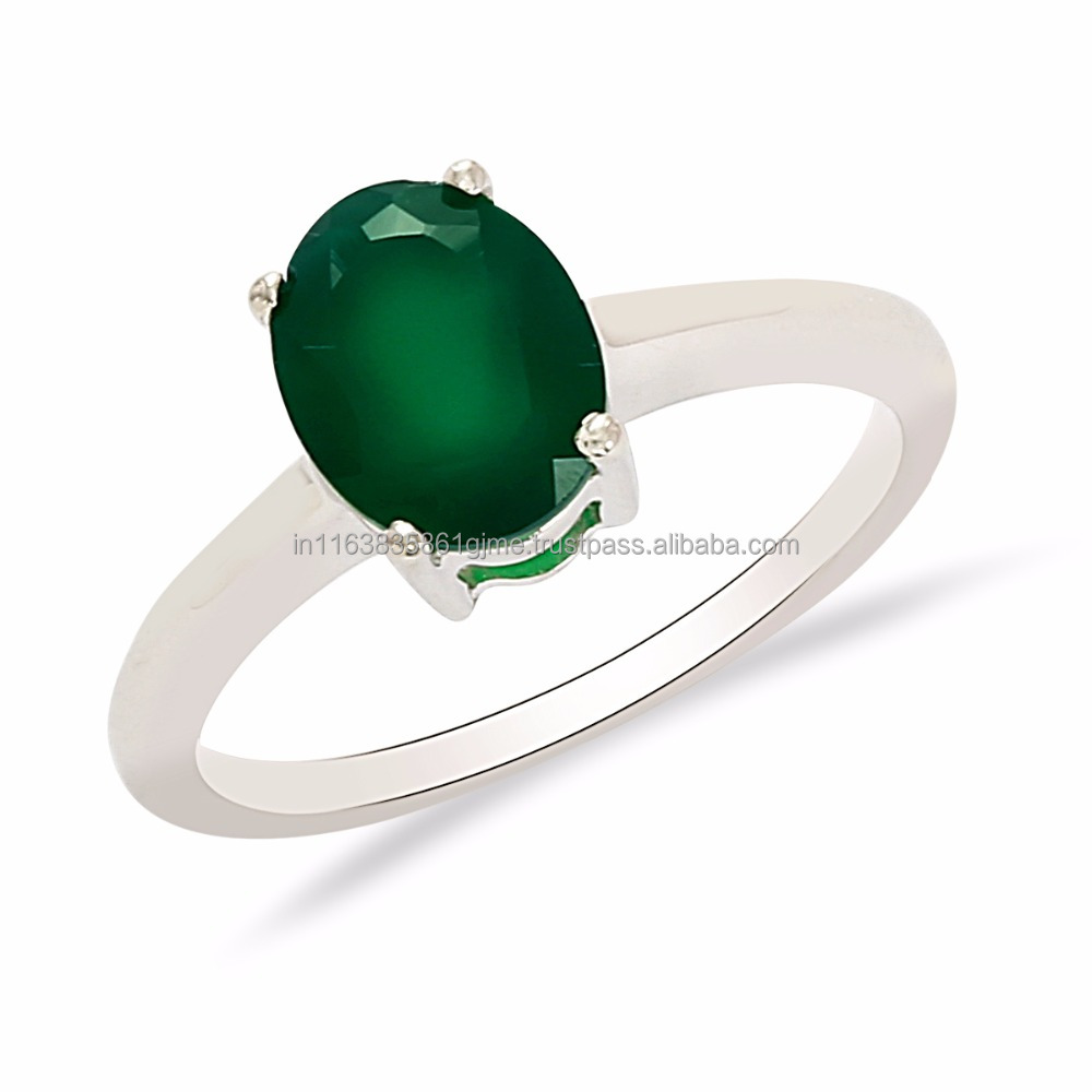 Fashion Women Green Onyx Gemstone Solid 925 Sterling Silver Rings Jewelry, Shine Jewel Low Price Ring SHRI0242