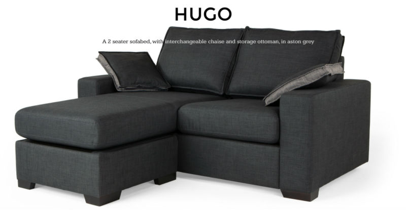 Hugo 4 In 1 Chaise Sofa Bed Aston Grey