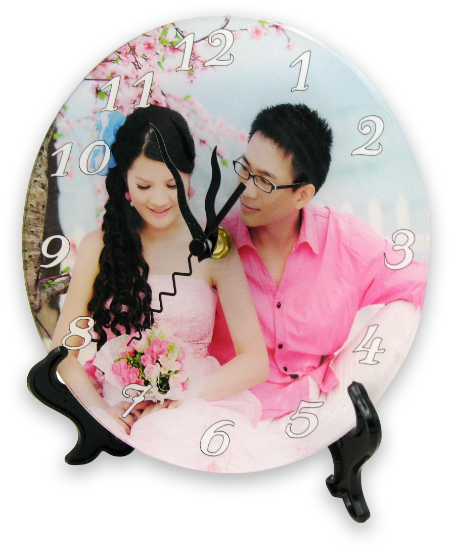Diy Acrylic Clock Plate Round Wall Photo Clock Kit