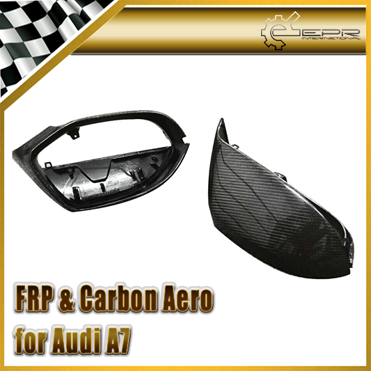 Carbon Fiber / FRP Fiber Glass Side Mirror Cover Replacement For Audi 2014 A7