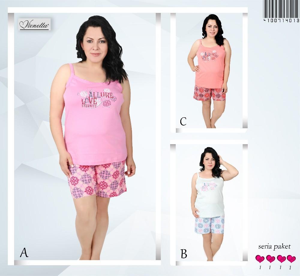4621eec33e7 Women Single Jersey Plus Size Short Pyjama Set