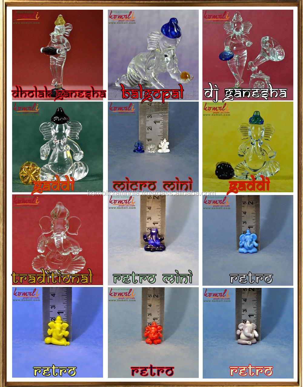 Handmade Crystal Glass Ganesha Blue Hot Wedding Gif Favors