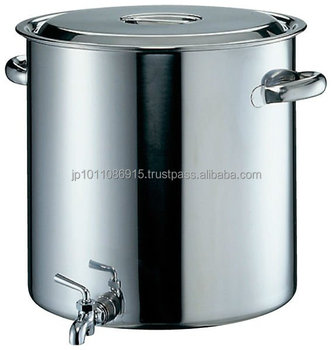 Stainless Steel Stock Pot With Handle And Faucet For Ramen Soup ...