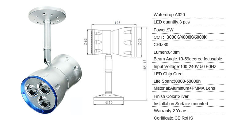 9w zoom surface mounted dim led ceiling spotlight for artist studio lighting artist studio lighting