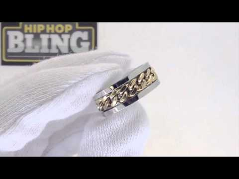 Gold Cuban Chain Ring | Stainless Steel Ring