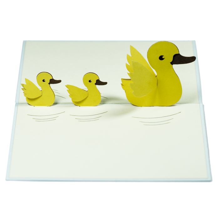 3d new baby greeting cardpop up handmade card for new mom3d 3d new baby greeting cardpop up handmade card for new mom3d handmade card vietnam for congratulationsnb010 duck mother ducks buy kirigami paper card m4hsunfo