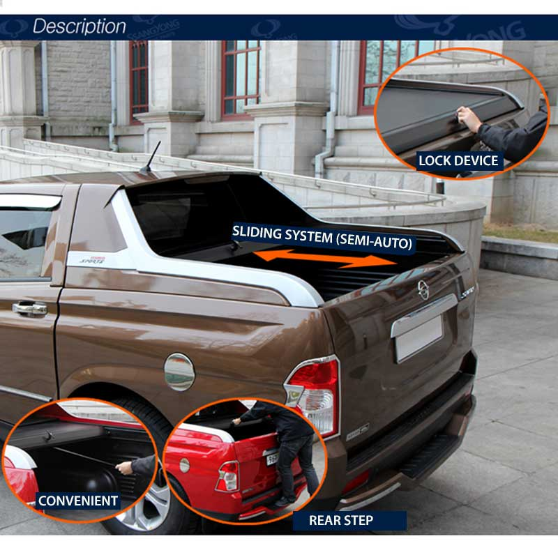 [SSANGYONG] SsangYong Korando Sports - Sewon Soft Top Trunk Cover (no.0227)