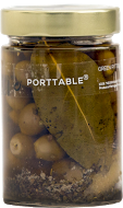Porttable Green Pitted Olives in Extra Virgin Olive Oil