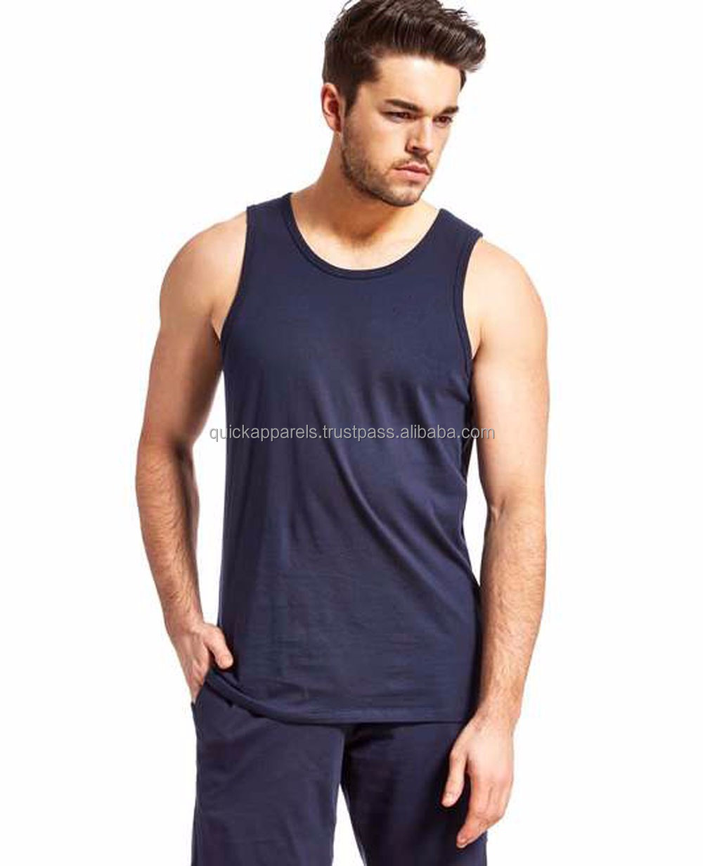 Cotton tank top with front pocket/tank top with front printing pocket/Custom design long line tank top