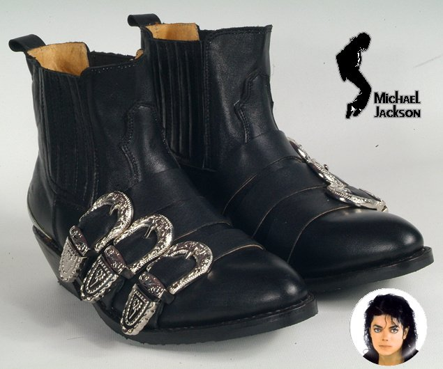 Wholesale Rare Michael Jackson Punk Cosplay Bad Tour Shoes 100 Real