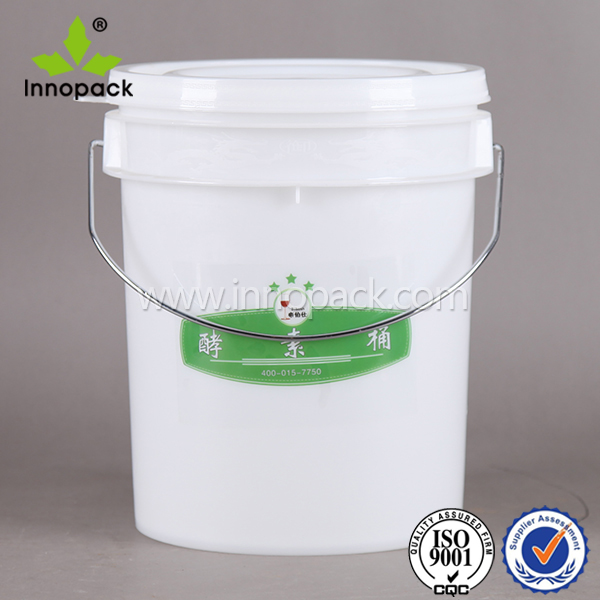 printing cheap 20L plastic chemical buckets oil paint pails with handles