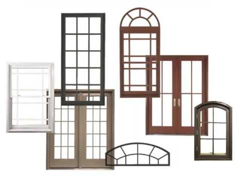 different types house windows set of picture, photos & images