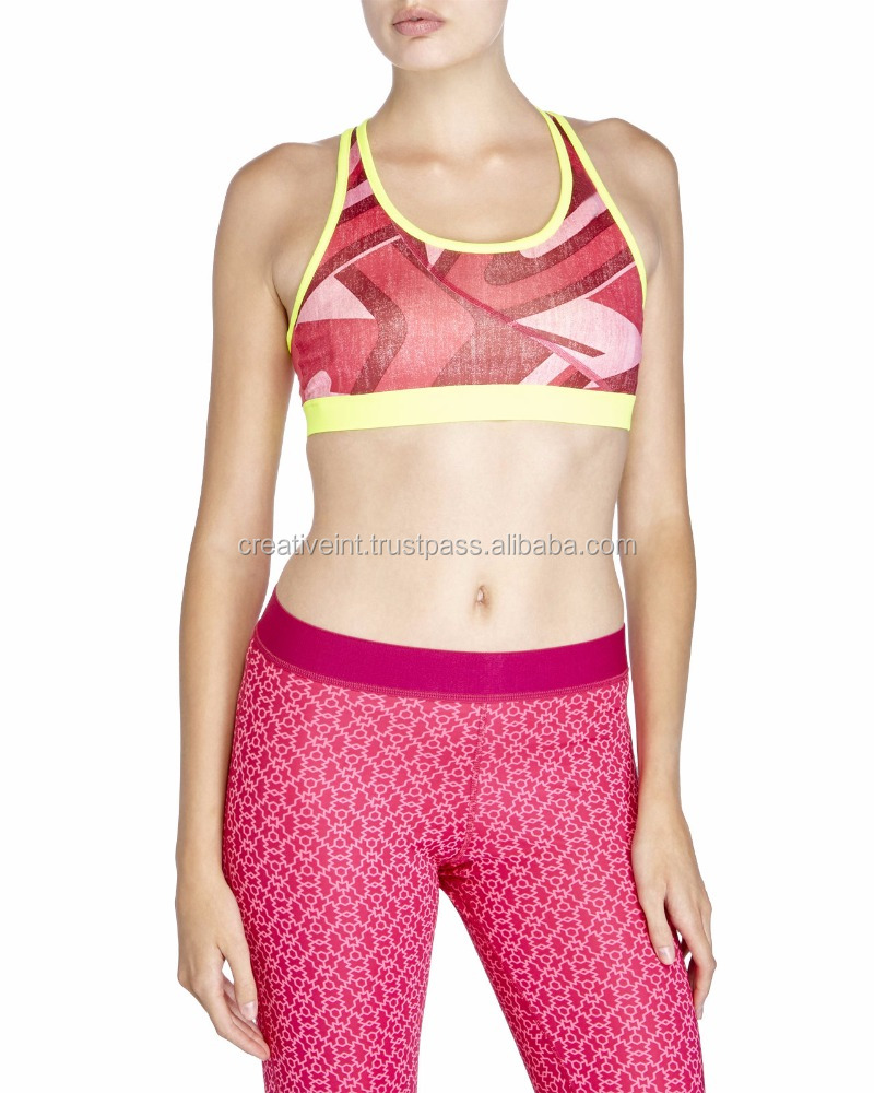 sublimation Top selling customise 100 % cotton sports bra