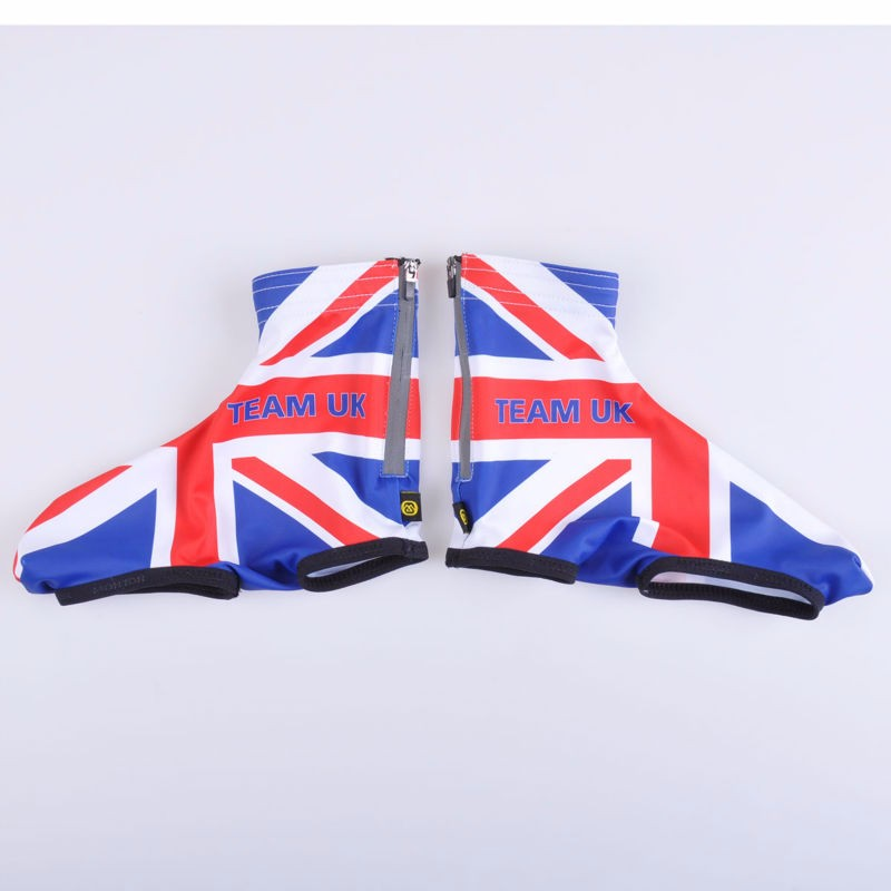 2016 custom full sublimation printed cycling shoe covers/cycling accessory with flag design
