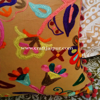 Indian Vintage Handmade Beautiful Suzani Embroidered Pillowcases Wholesale Cushion Cover