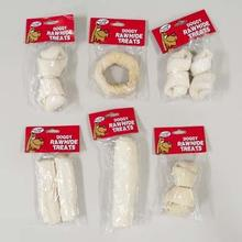Rawhide Dog Treats - Assorted Shapes Case Pack 66