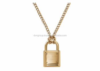 tone heart pendant rose necklace kors wid gold lock r michael