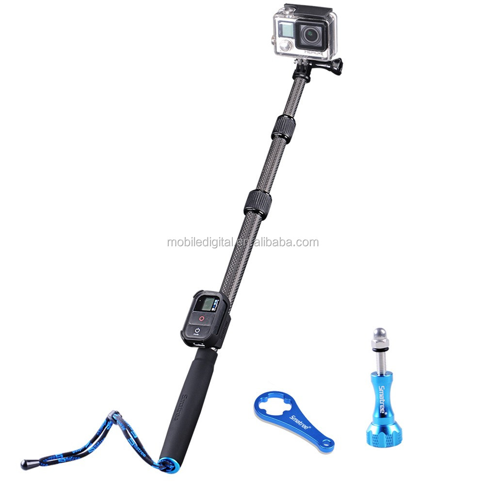 2017 new product Smatree SmaPole S2C Carbon Fiber monopod /pole for Go pro camera replacment with hot selling