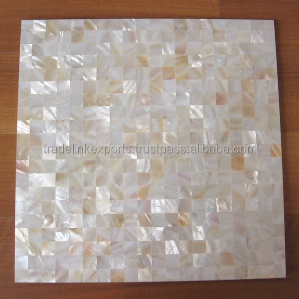 White Lip Natural Sea Shell Mother of Pearl Tile For Home & Office Interior