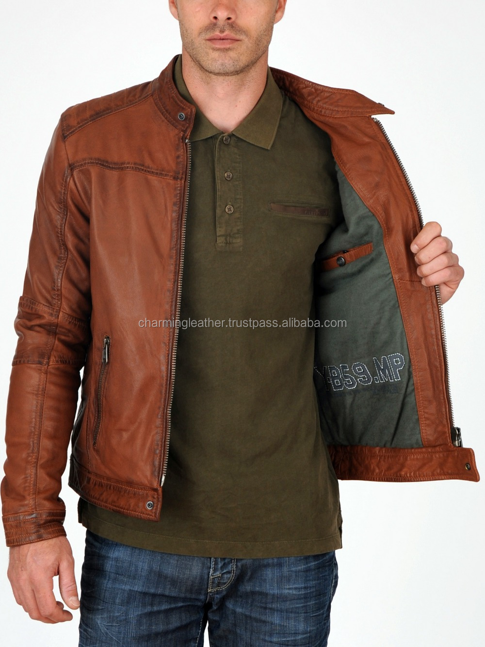 Light Brown Leather Fashion Jacket Pakistan Buy Leather Jackets