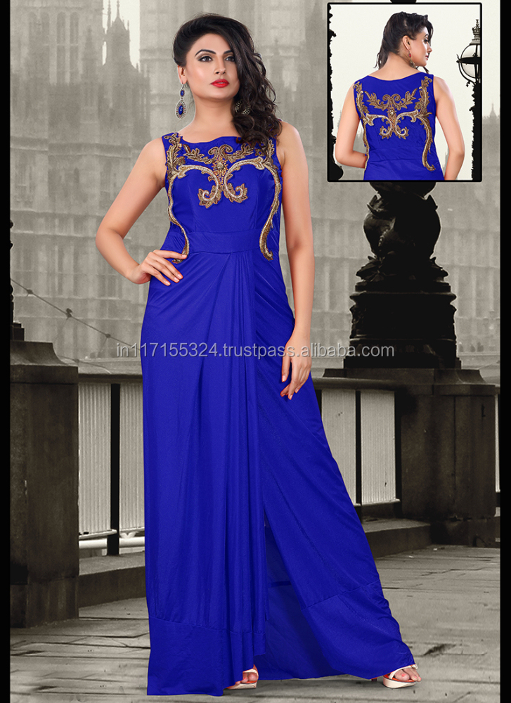 Lovely Women Gown Dress Brazilian Evening Indian Stani Style Clothing Ke22924 Anarkali Party Wear